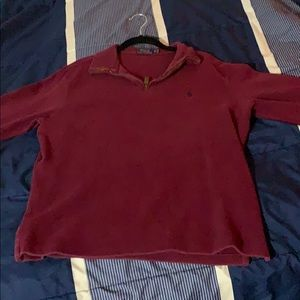 Red Polo by Ralph Lauren Collard Quarter Zip